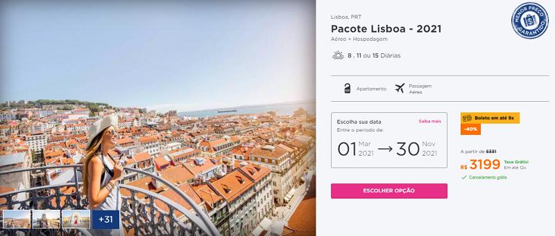 Pacote para Lisboa - Portugal