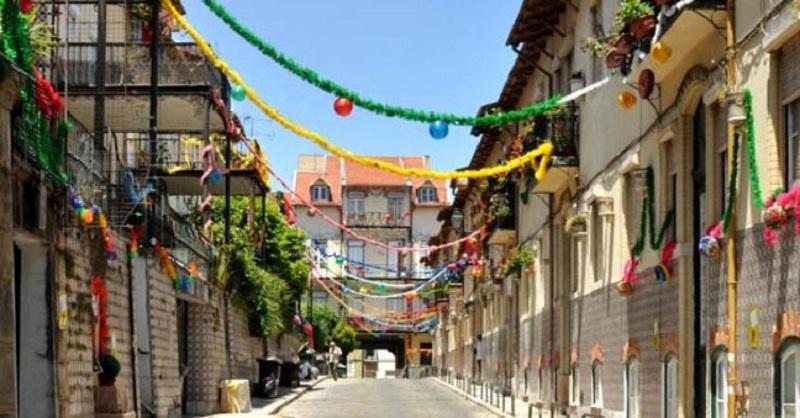 Festa de rua em Lisboa, Portugal