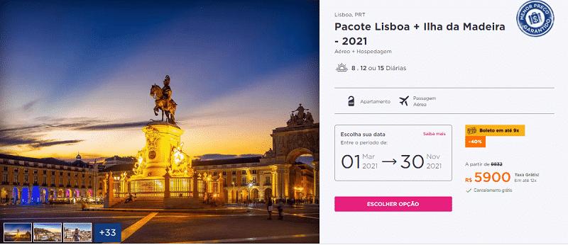 Pacote Hurb para Lisboa e Ilha da Madeira por R$ 5.900