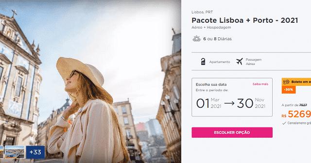 Pacote Hurb para Lisboa e Porto por R$ 5.269
