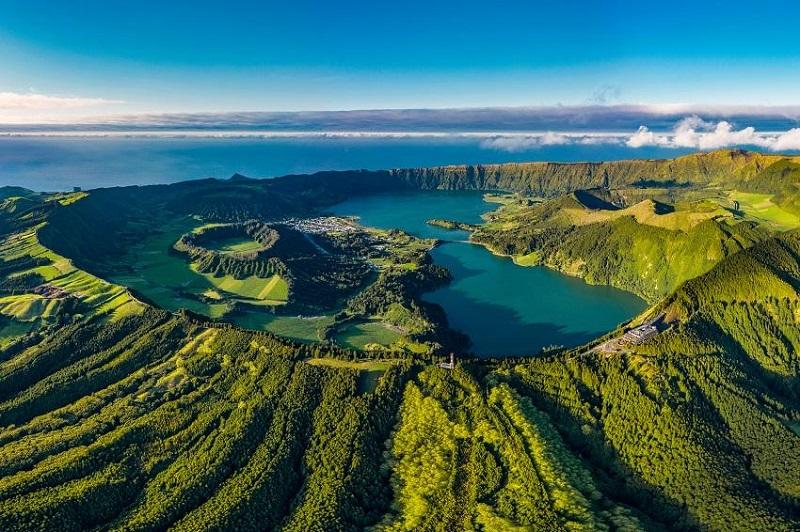 Vista aérea dos Açores