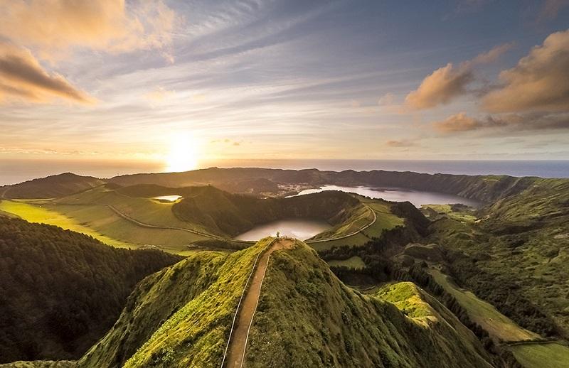 Pôr do sol nos Açores