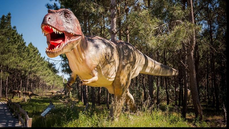 Tiranoussauro Rex no Museu dos dinossauros Dino Parque em Portugal