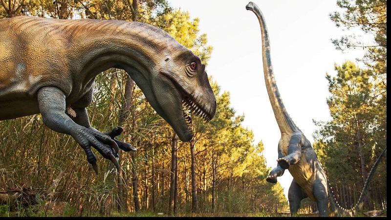 Museu dos dinossauros Dino Parque em Portugal