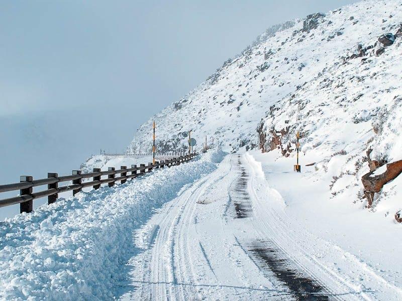 Estrada da Serra da Estrela no inverno